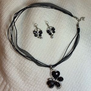 Jewelry - Butterfly necklace and earrings